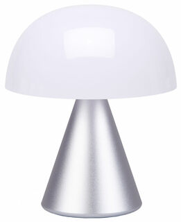 "Kabellose LED-Dekoleuchte ""Mina M"" (Version Metallic Silber), dimmbar"