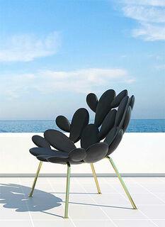 "Designer-Stuhl ""Filicudi schwarz"" (In- und Outdoor) - Design Marcantonio"