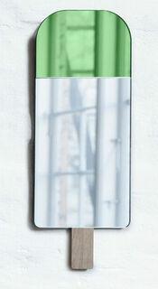 """Wandspiegel """"Nice Cream - Eis am Stiel"""", grüne Version"""
