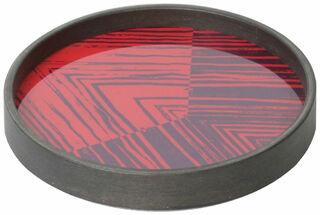 """Tablett """"Rimi"""" mit Hinterglas-Dekor"""
